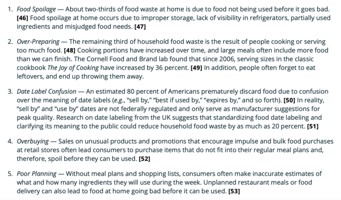 food waste issues